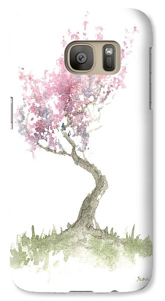 Galaxy Case featuring the painting Zen Tree In Spring by Sean Seal