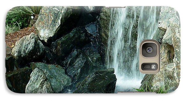 Galaxy Case featuring the photograph Zen Waterfall by Therese Alcorn