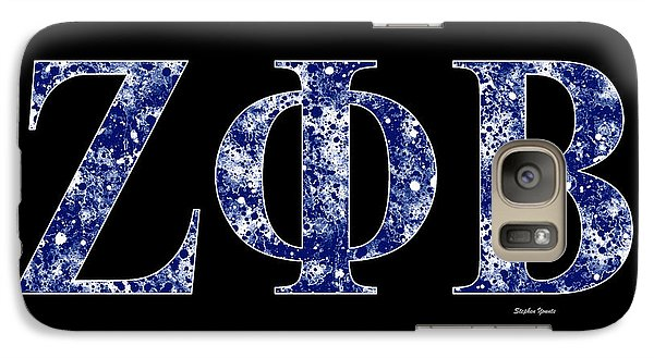 Galaxy Case featuring the digital art Zeta Phi Beta - Black by Stephen Younts