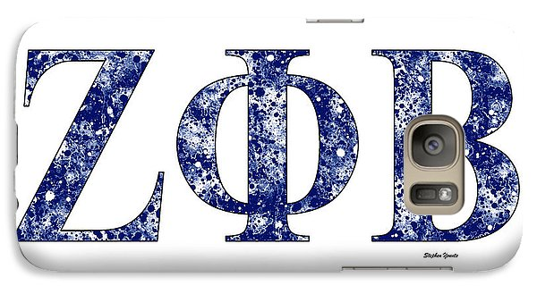 Galaxy Case featuring the digital art Zeta Phi Beta - White by Stephen Younts