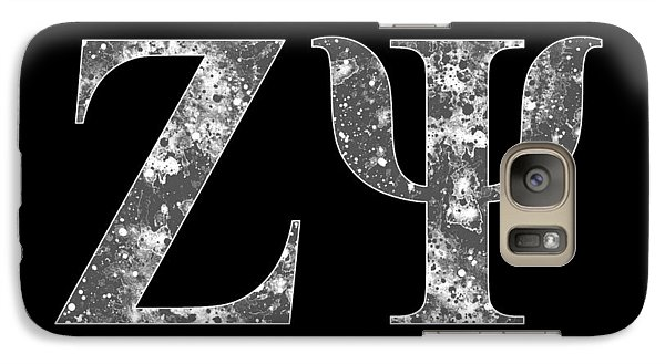 Galaxy Case featuring the digital art Zeta Psi - Black by Stephen Younts
