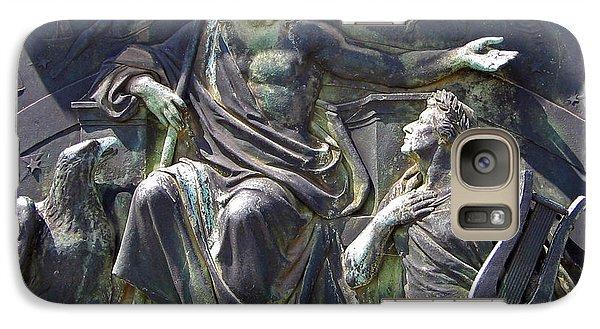 Galaxy Case featuring the photograph Zeus Bronze Statue Dresden Opera House by Jordan Blackstone