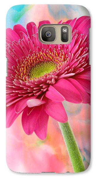 Gerbera Daisy Abstract Galaxy S7 Case