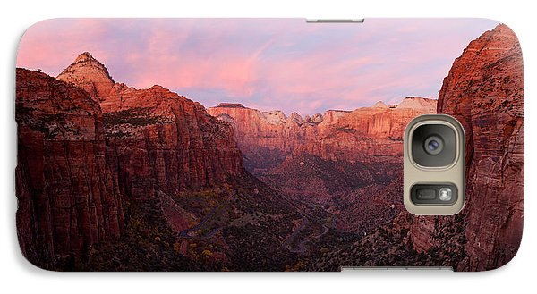Zion Canyon At Sunset, Zion National Galaxy Case by Panoramic Images