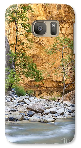 Galaxy Case featuring the photograph Zion Narrows by Bryan Keil