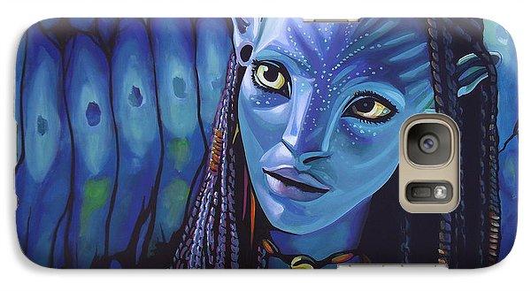 Realistic Galaxy S7 Case - Zoe Saldana As Neytiri In Avatar by Paul Meijering
