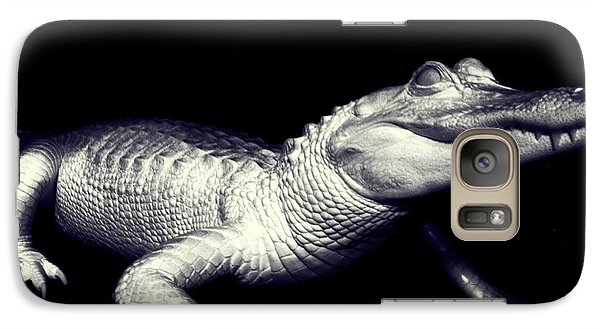 Galaxy Case featuring the photograph Zombie Gator by Jeremy Martinson