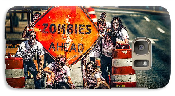 Galaxy Case featuring the photograph Zombies Ahead by Joshua Minso