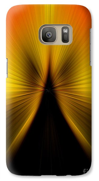 Galaxy Case featuring the photograph Zoom Orange Yellow by Trena Mara