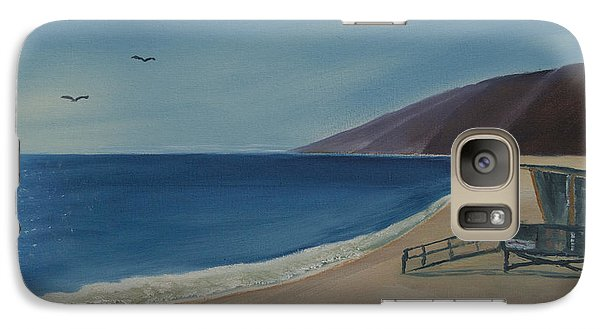 Galaxy Case featuring the painting Zuma Lifeguard Tower by Ian Donley