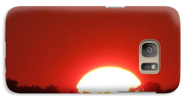 Galaxy Case featuring the photograph  A Very Red Summer Sunset by Tina M Wenger