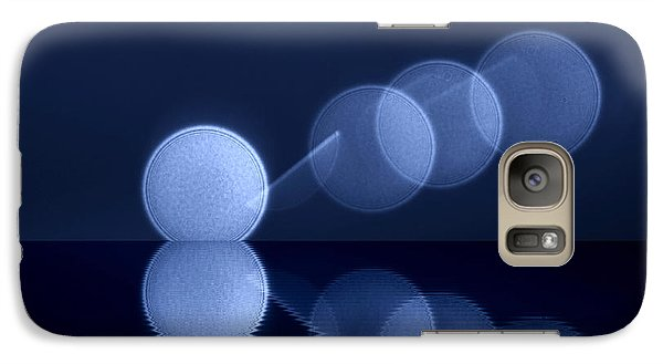 Galaxy Case featuring the digital art  Abstract Lights by Odon Czintos