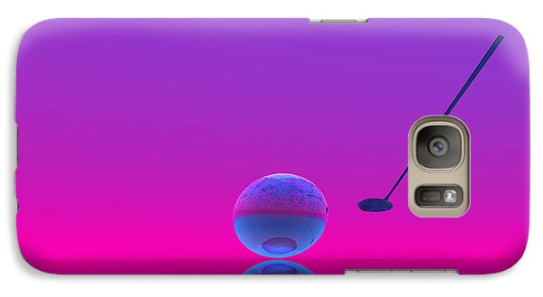 Galaxy Case featuring the digital art  An Artistic Colored And Fantasy Fractal Background. by Odon Czintos