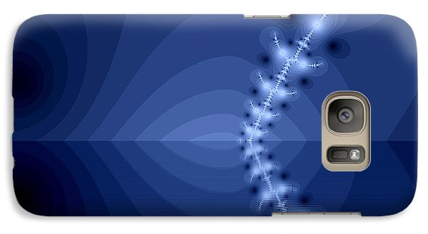 Galaxy Case featuring the digital art  An Artistic Colored Fantasy Fractal Background. by Odon Czintos
