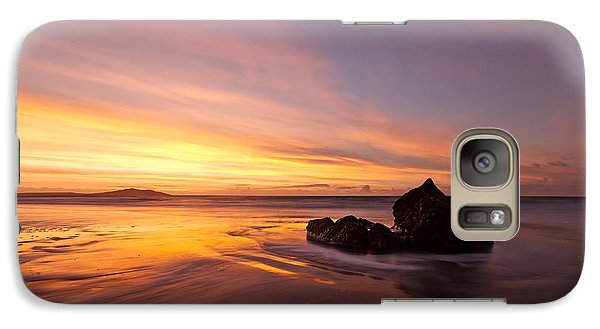 Galaxy Case featuring the photograph  Atomic Sunset by Beverly Cash