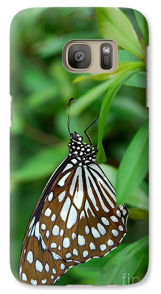 Galaxy Case featuring the photograph  Blue Tiger Butterfly by Eva Kaufman