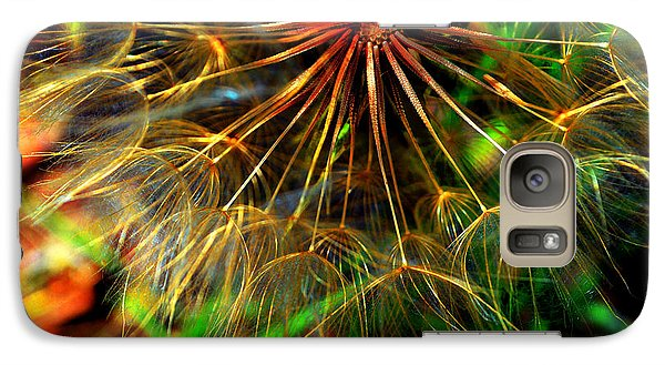 Galaxy Case featuring the photograph  Dandelion Dreamtime by Susanne Still