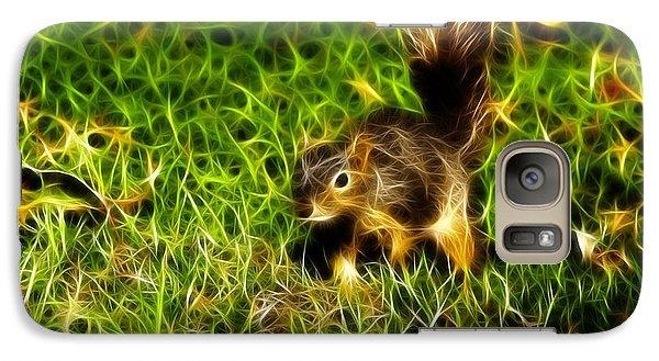 Galaxy Case featuring the digital art - Fractal - Pointer - Robbie The Squirrel by James Ahn