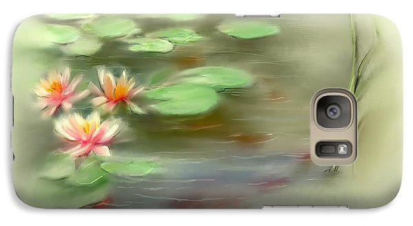Galaxy Case featuring the painting  Gold Fish Pond by Bonnie Willis