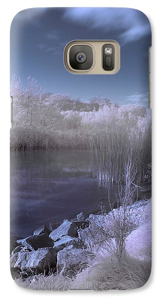 Galaxy Case featuring the photograph  Infrared Pond by Beverly Cash