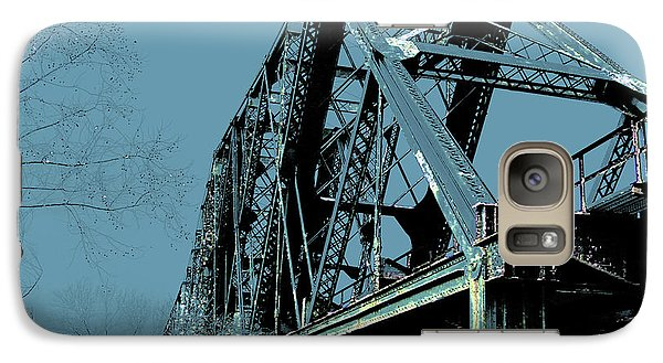 Galaxy Case featuring the photograph  Mississippi River Rr Bridge At Memphis by Lizi Beard-Ward
