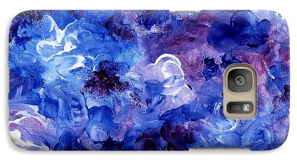 Galaxy Case featuring the painting  Painting Of Flowers Energy In Abstract Form by Annie Zeno