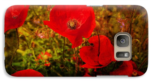 Galaxy Case featuring the photograph  Poppies by Beverly Cash