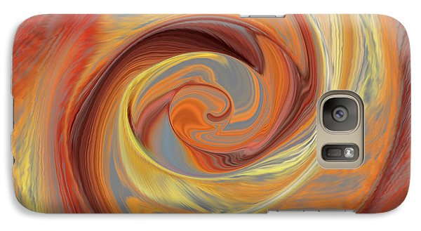 Galaxy Case featuring the painting  Spinning Rose Enigma by Richard James Digance