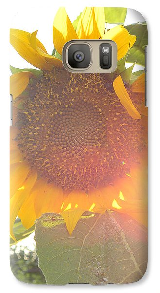 Galaxy Case featuring the photograph  Sun Flower by Nada Meeks