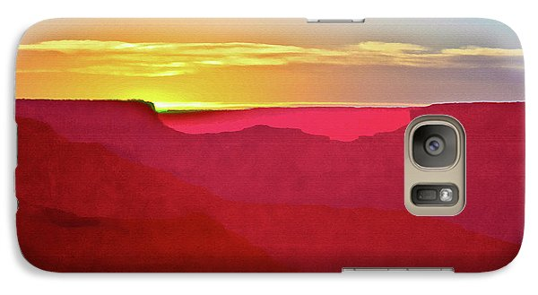 Galaxy Case featuring the painting   Sunset At Grand Canyon Desert View by Bob and Nadine Johnston