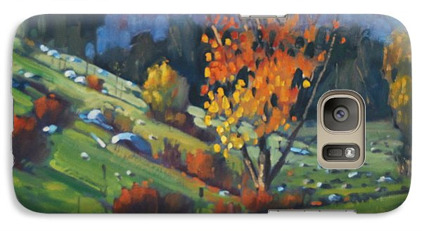 Galaxy Case featuring the painting  The Berkshires by Len Stomski
