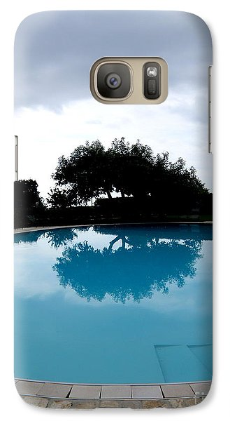 Galaxy Case featuring the photograph  Tree At The Pool On Amalfi Coast by Tanya  Searcy