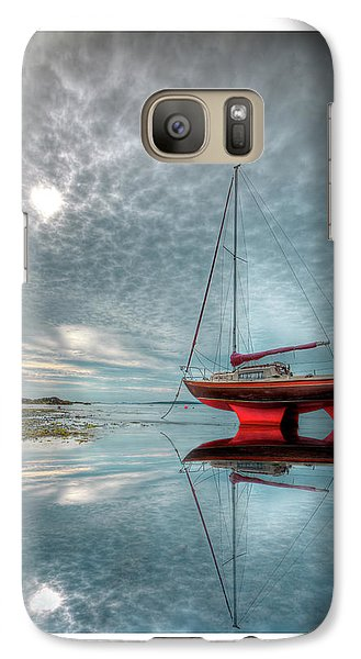 Galaxy Case featuring the photograph  Waiting For The Tide by Beverly Cash