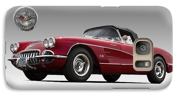 Galaxy Case featuring the photograph 1959 Corvette by John Hix