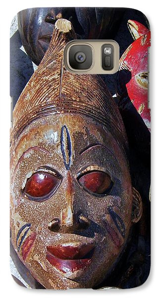Galaxy Case featuring the photograph African Mask by Werner Lehmann