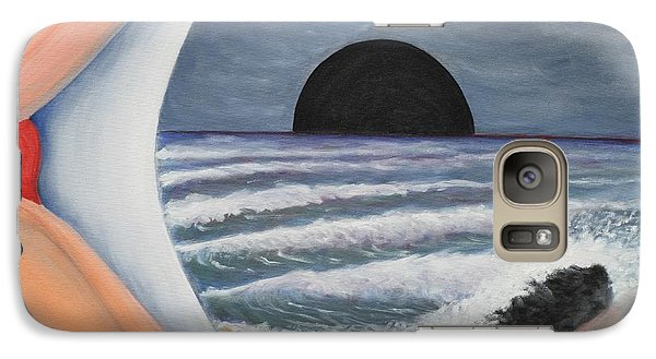 Galaxy Case featuring the painting Alone by Vonda Lawson-Rosa