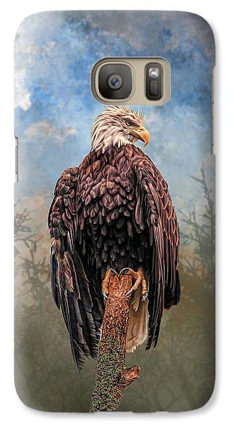 Galaxy Case featuring the digital art American Bald Eagle by Mary Almond