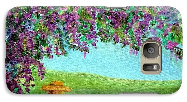 Galaxy Case featuring the painting Beyond The Arbor by Margaret Harmon