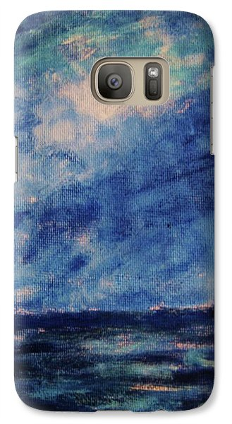 Galaxy Case featuring the painting Big Blue by John Scates