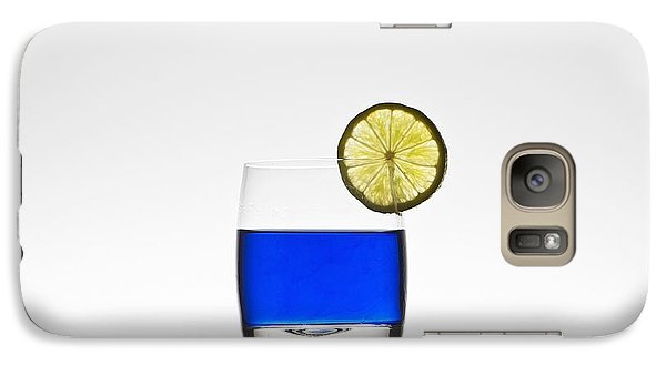 Blue Cocktail With Lemon Galaxy Case by Joana Kruse