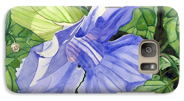 Galaxy Case featuring the painting Blue Sky Vine by Debi Singer