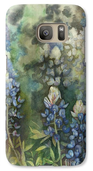 Galaxy Case featuring the painting Bluebonnet Blessing by Karen Kennedy Chatham