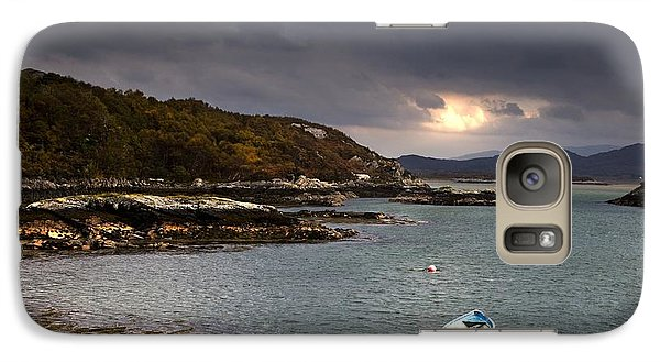Galaxy Case featuring the photograph Boat In Water, Loch Sunart, Scotland by John Short