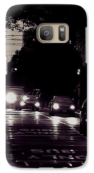 Galaxy Case featuring the photograph Bus Only Lane by Bob Wall
