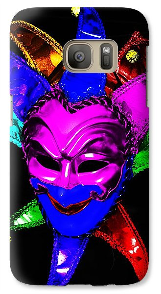 Galaxy Case featuring the digital art Carnival Mask by Blair Stuart