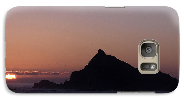 Galaxy Case featuring the photograph Castle Rock Sunset by Betty Depee