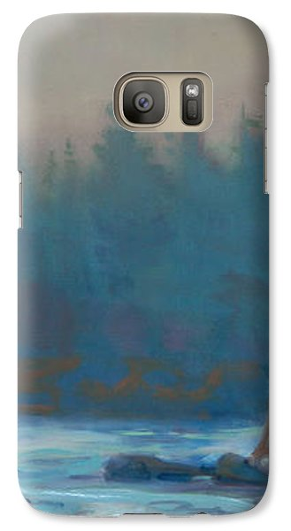 Galaxy Case featuring the painting Coastal Watch by Donald Maier