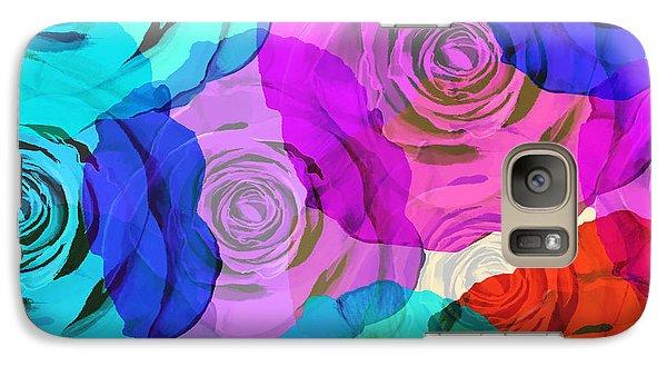 Rose Galaxy S7 Case - Colorful Roses Design by Setsiri Silapasuwanchai
