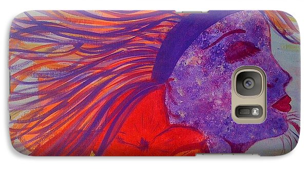 Galaxy Case featuring the painting Coloured Beauty by Judi Goodwin