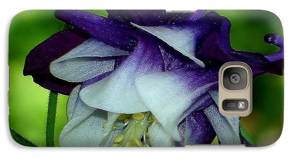 Galaxy Case featuring the photograph Columbine Flower by Katy Mei